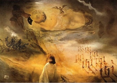 "Salvador Dalí, ""Galacidalacidesoxyribonucleicacid"" (1963)"